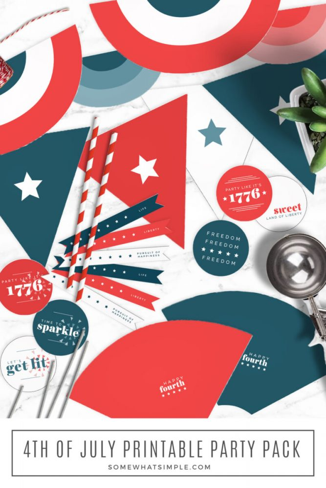 long image of a 4th of July Party Pack