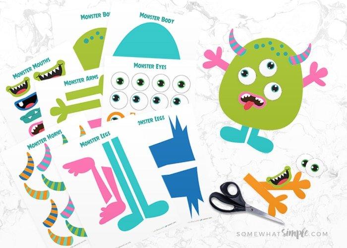 Build A Monster summer activities for kids