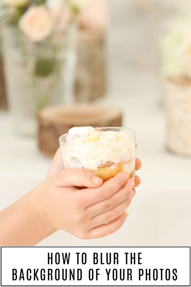 Camera Aperture Tips with child holding a cupcake and the background is blurred