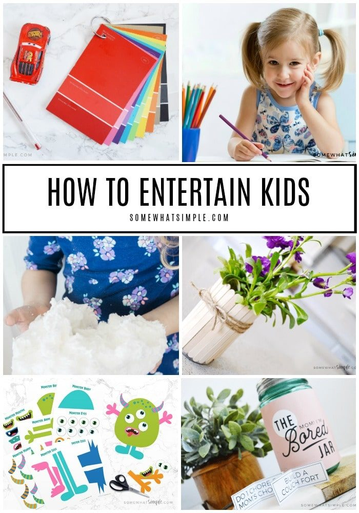 collage of 50 + summer activities for kids