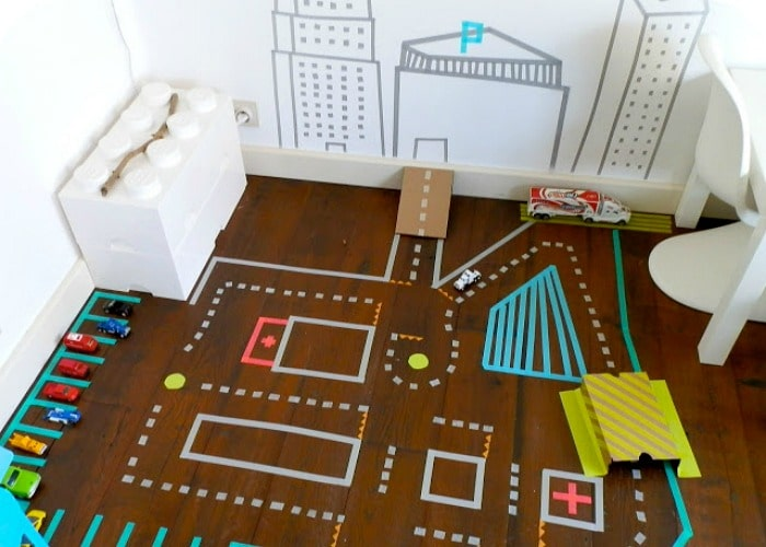 washi tape indoor summer activity for kids