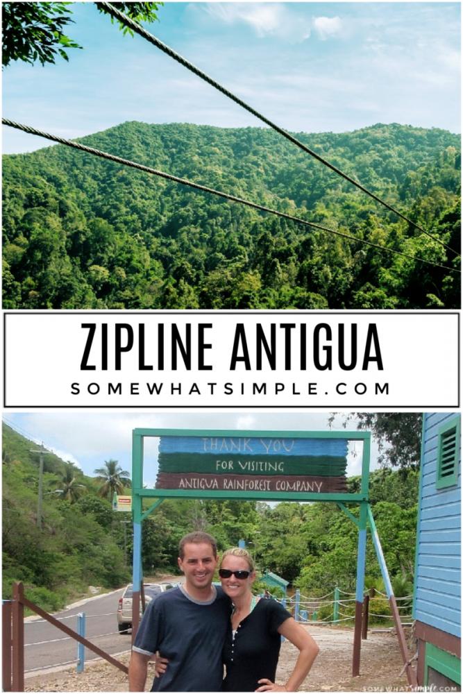 zipline on antigua island