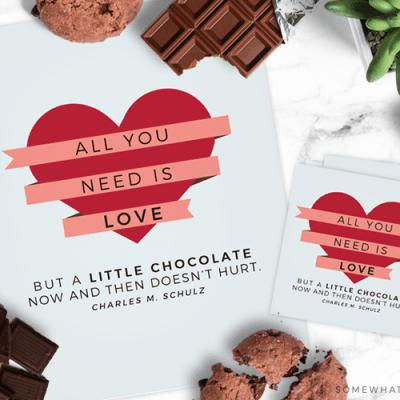 Chocolate Gift Tag Printable