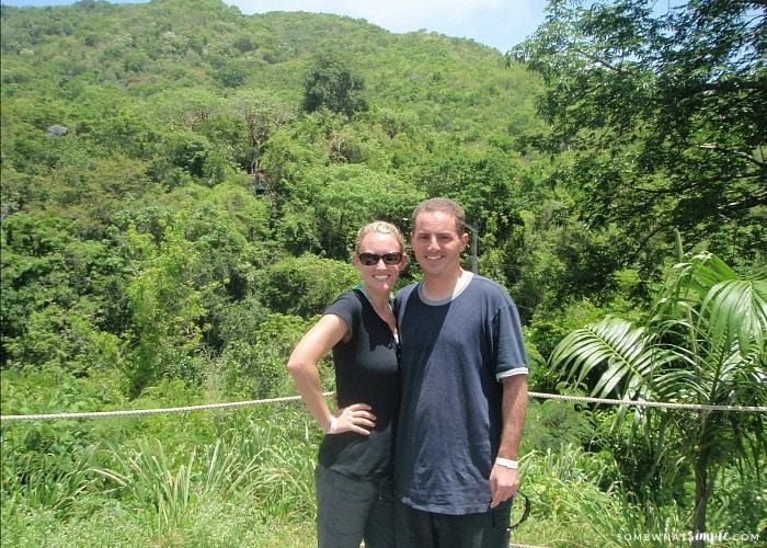 Zip Lining on Antigua Island