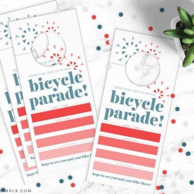 Fourth of July Bike Parade Invitation
