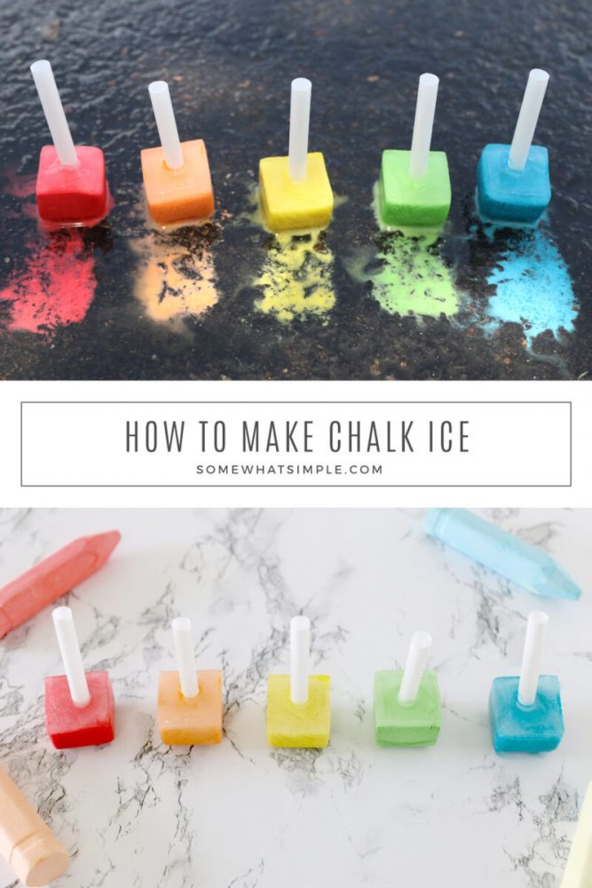 collage of chalk ice images