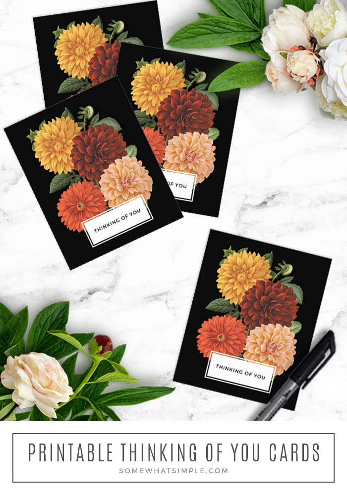 free printable dahlia flower cards