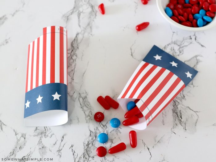 how to make candy treat bags - step one