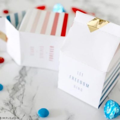 4th of July Treats – Printable Milk Cartons