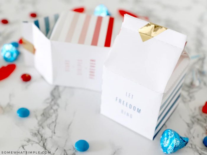 4th of July Treats in boxes