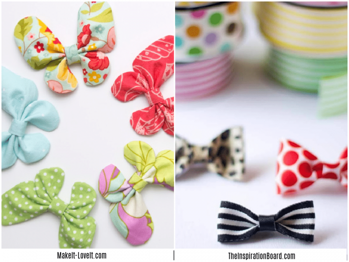 butterfly clips and mini hair clips on a white counter