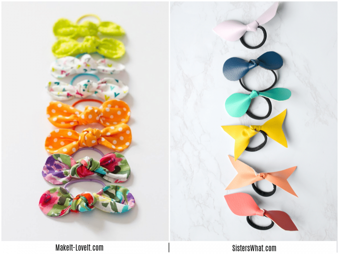colorful line of bows