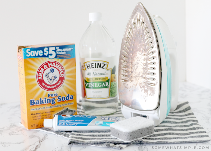 ingredients you need to clean an iron