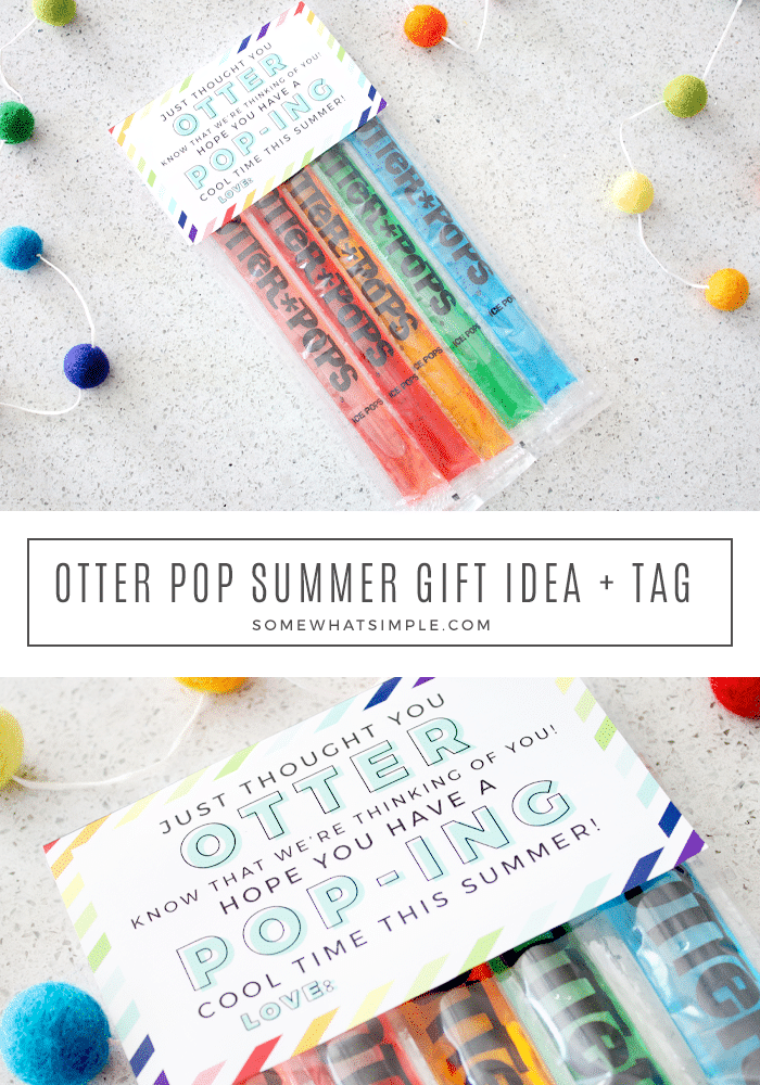 collage of otter pops wrapped up as a gift