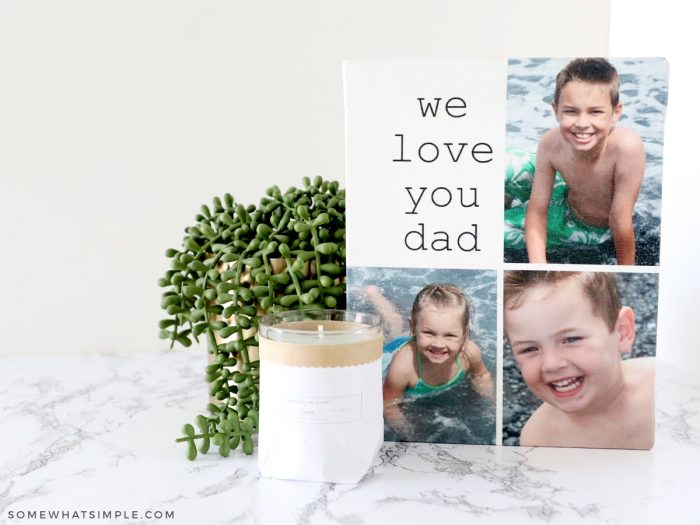personalized canvas gift for dad