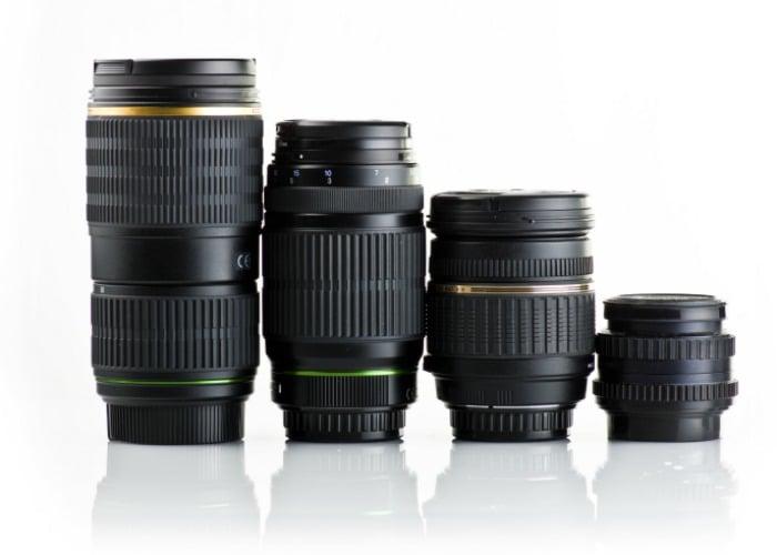 a row of lenses