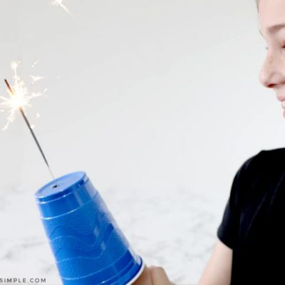 Sparkler Safety Cup for Kids