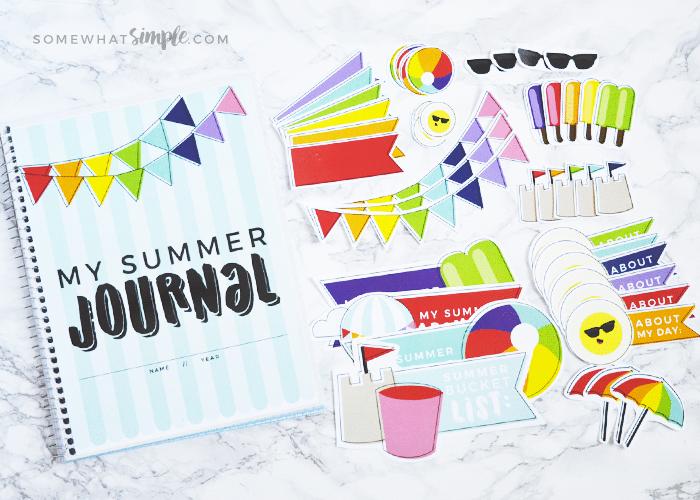 summer journal - easy activity for kids