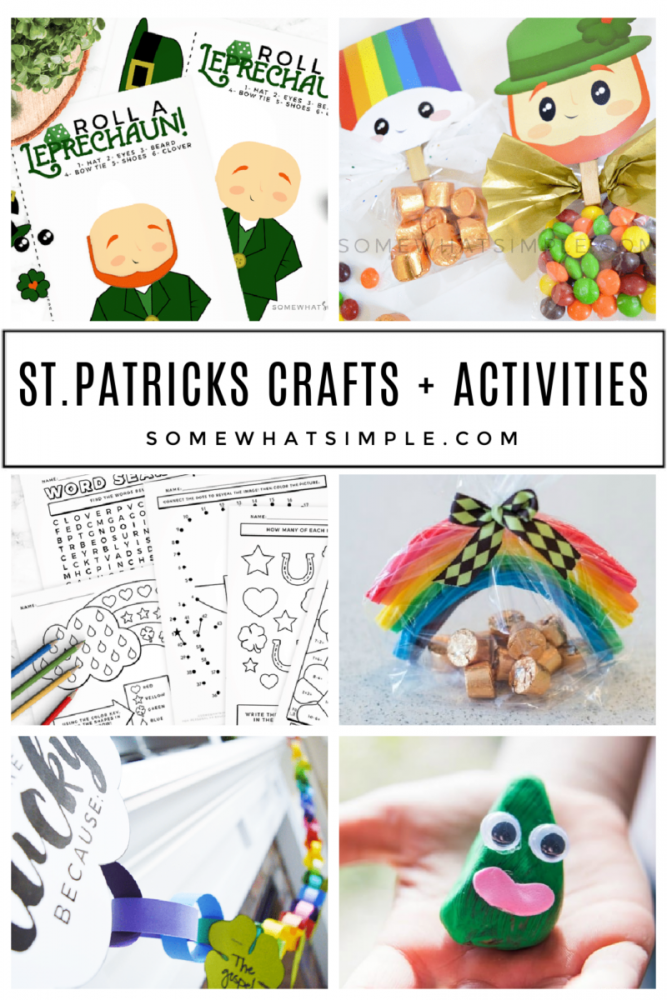 collage of st. patricks day crafts