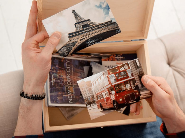 travel keepsake box - a great gift for travel lovers