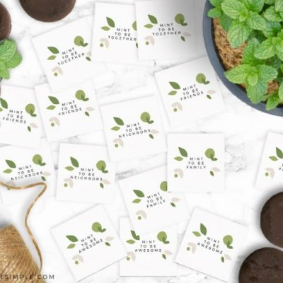 mint to be gift tags on a white counter