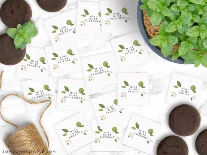 mint to be gift tag printables