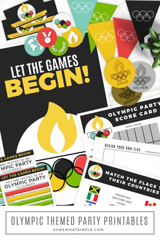 long image of olympic party printables