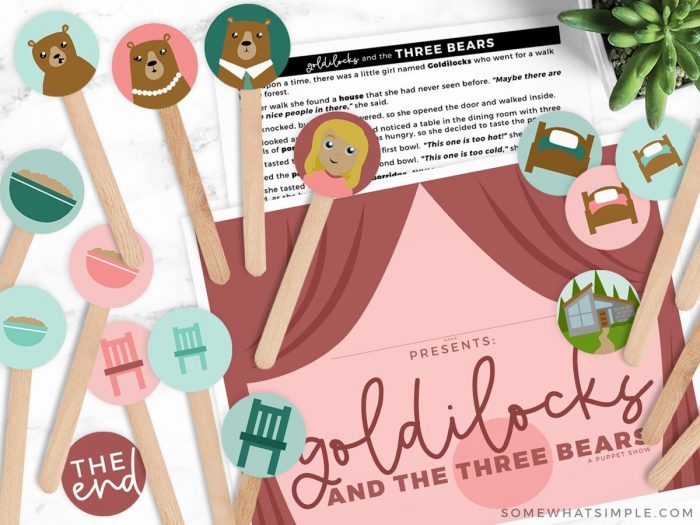 goldilocks and the 3 bears puppet show printables