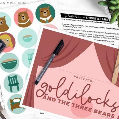 three bears puppet show printables