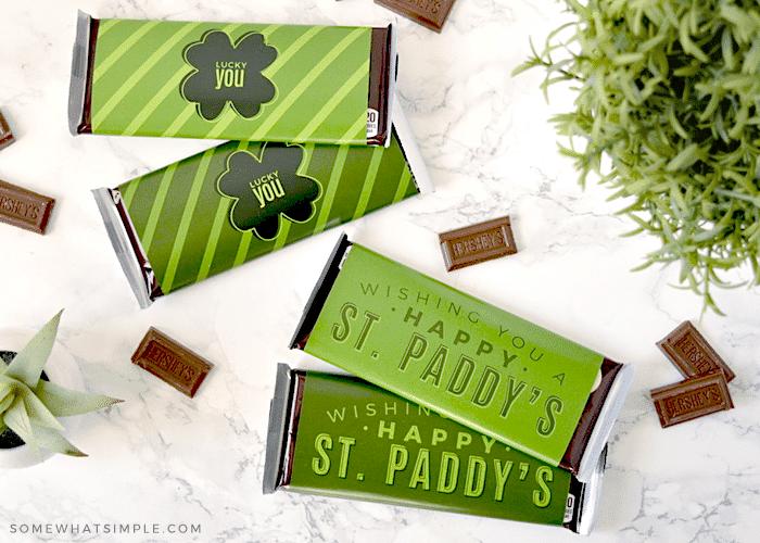 st. patrick's candy bar printable
