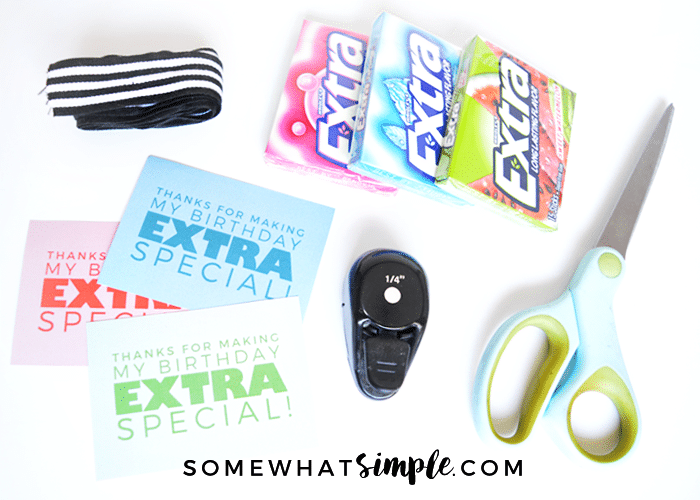 extra gum birthday party favor supplies