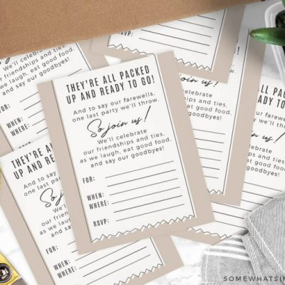 Moving Party Printable Invitations