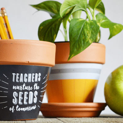 Back to School Teachers Gift || Printable Plant Wrapper