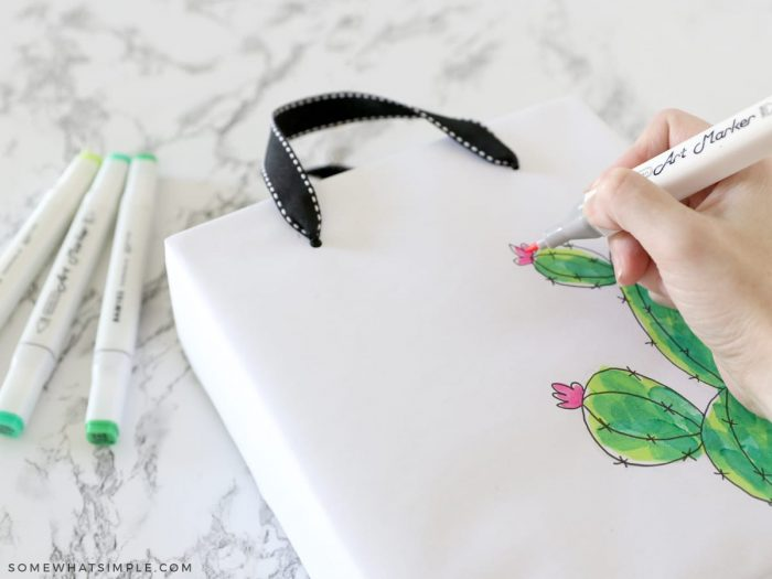 adding embellishments to a cereal box