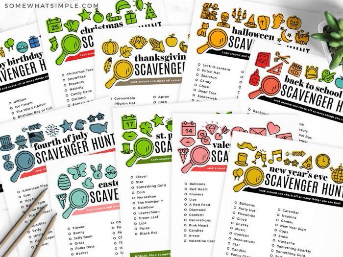 holiday scavenger hunt printables